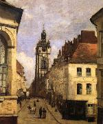 The bell tower of Doual Corot Camille