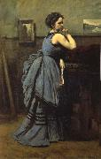 The lady of blue Corot Camille