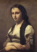 The woman of the pearl Corot Camille
