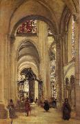 Interior of the Cathedral of sens Corot Camille
