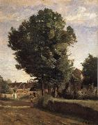 Entrance of Coubron Corot Camille