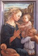 Madonna with the Child and Two Angels Filippino Lippi