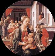Virgin with the Child and Scenes from the Life of St Anne Filippino Lippi