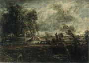 A Study for The Leaping Horse John Constable
