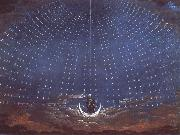 In the palace of the Queen of the Night,decor for Mazart-s opera Die Zauberflote Karl friedrich schinkel