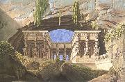 The Portico of the Queen of the Night-s Palace,decor for Mozart-s opera Die Zauberflote Karl friedrich schinkel