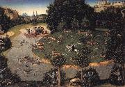 Stag hunt of Elector Frederick the Wise Lucas Cranach