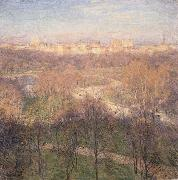 Early Spring Afternoon,Central Park Metcalf, Willard Leroy