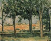 Chestnut Trees at Jas de Bouffan Paul Cezanne