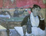 Dans  un cafe a Arles depicts the same cafe Van Gogh painted Paul Gauguin