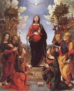 Immaculate Conception and Six Saints Piero di Cosimo