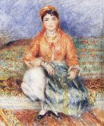 Seated Algerian renoir