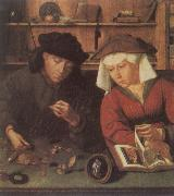 The Moneylender and His Wife Quentin Massys
