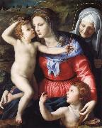 The Madonna and Child with Saint John the Baptist and Saint Anne Agnolo Bronzino