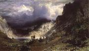 Ein Sturm in den RockY Mountains,Mount Rosalie Albert Bierstadt