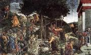 Scenes from the Life of Moses Botticelli