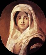 Portrait of a Woman with Veil Brocky, Karoly