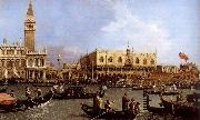 named Canaletto Venetie, the Bacino Tue S. Marco on Hemelvaartsdag Canaletto