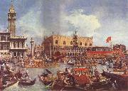 The Bucintoro at the Molo on Ascension Day Canaletto