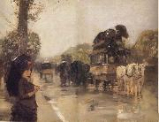 April Showers,Champs Elysees Paris Childe Hassam