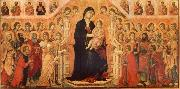 Maria and Child throning in majesty, hoofddpaneel of the Maesta, altar piece Duccio di Buoninsegna