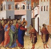 Jesus Opens the Eyes of a Man Born Blind Duccio