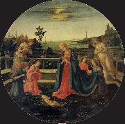 The Adoration of the Infant Christ Filippino Lippi