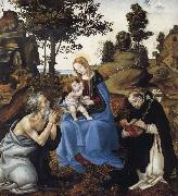 THe Virgin and Child with Saints Jerome and Dominic Filippino Lippi