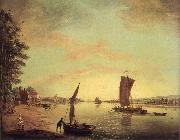 Scene on the Thames Francis Swaine