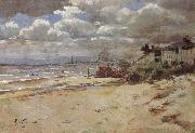 Coast scene with pier Girolamo Nerli