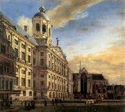 Amsterdam, Dam Square with the Town Hall and the Nieuwe Kerk HEYDEN, Jan van der