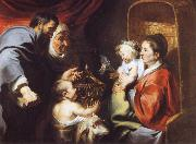 The Virgin and Child with Saints Zacharias,Elizabeth and John the Baptist Jacob Jordaens