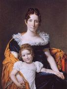 Portrait of the Vicomtesse Vilain XIV and her Daughter Jacques-Louis David