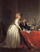 Antoine-Laurent Lavoisier and His Wife Jacques-Louis David