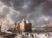 The Castle of Muiden in Winter Jan Abrahamsz. Beerstraten
