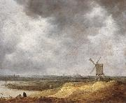 A Windmill by a River Jan van Goyen