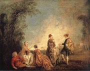 An Embarrassing Proposal WATTEAU, Antoine