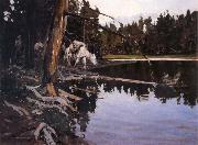 Cove in Yellowstone Park Johnson, Frank Tenney