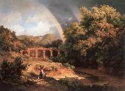 Italian Landscape with Viaduct and Rainbow Karoly Marko the Elder