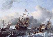 The Eendracht and a Fleet of Dutch Men-of-War Ludolf Backhuysen
