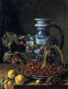 Still-Life with Fruit and a Jar MELeNDEZ, Luis