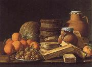 Still life with Oranges and Walnuts MELeNDEZ, Luis