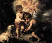 Infant Christ Offering a Drink of Water to St John MURILLO, Bartolome Esteban
