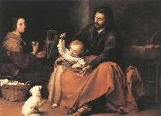 The Holy Family with a Bird MURILLO, Bartolome Esteban
