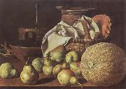 Still-Life with Melon and Pears MELeNDEZ, Luis