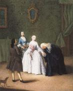 A Nobleman Kissing a Lady-s Hand Pietro Longhi