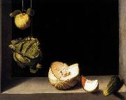 Still-life with Quince, Cabbage, Melon and Cucumber SANCHEZ COELLO, Alonso
