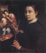 Self-Portrait at the Easel Sofonisba Anguissola