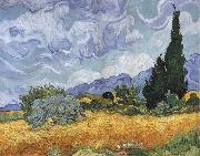 A Wheatfield,with Cypresses Vincent Van Gogh