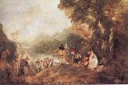 The Pilgrimago to the Island of Cythera WATTEAU, Antoine